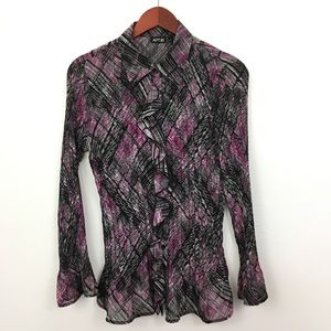 4/$25 Apt 9 Bell Sleeve Button Down Blouse